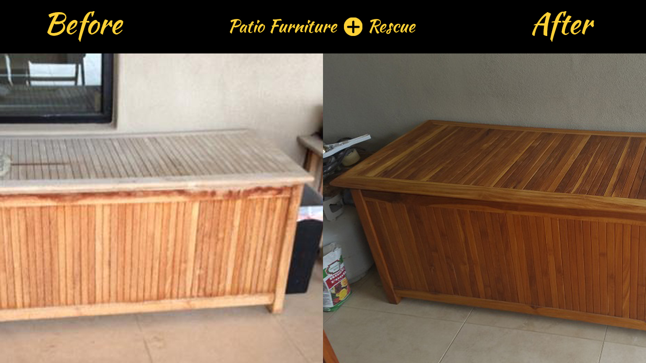 Teak Before And After