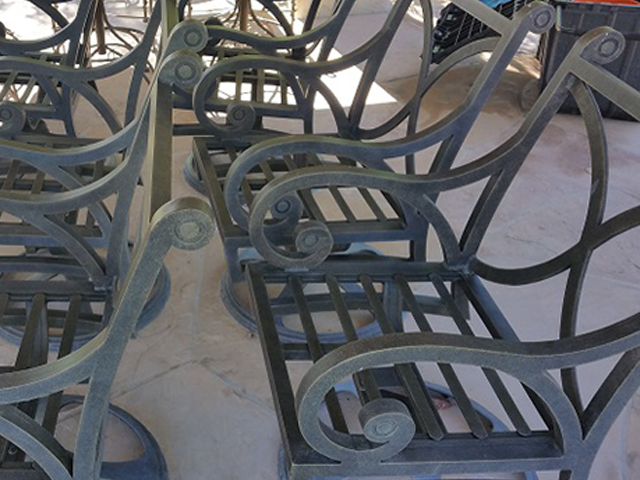 Metal Frame Restoration Service | Dining Chairs - BEFORE