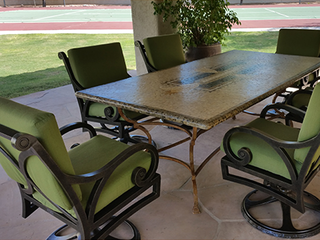 Metal Frame Restoration Service   Dining Chairs - AFTER