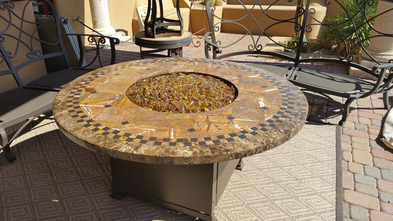 Table Top Restoration Service | Firepit - AFTER