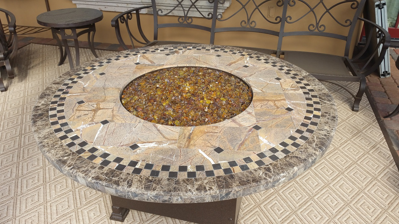 Table Top Restoration Service | Firepit - BEFORE