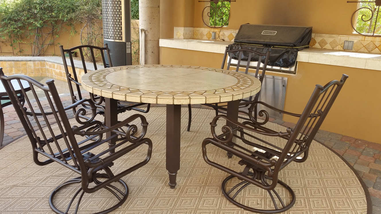Table Top Restoration Service | Travertine Dining Table - AFTER