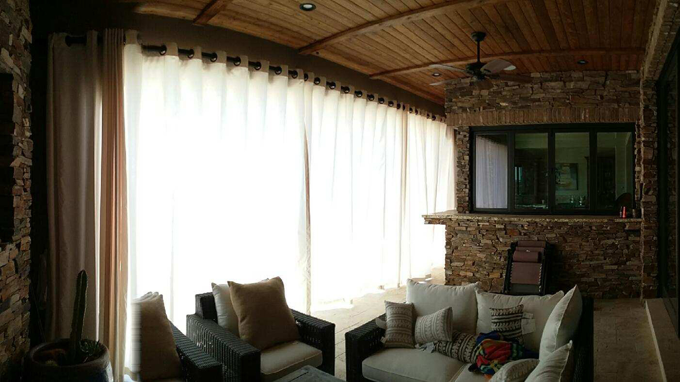 Outdoor Drapes Service   From Inside Closed
