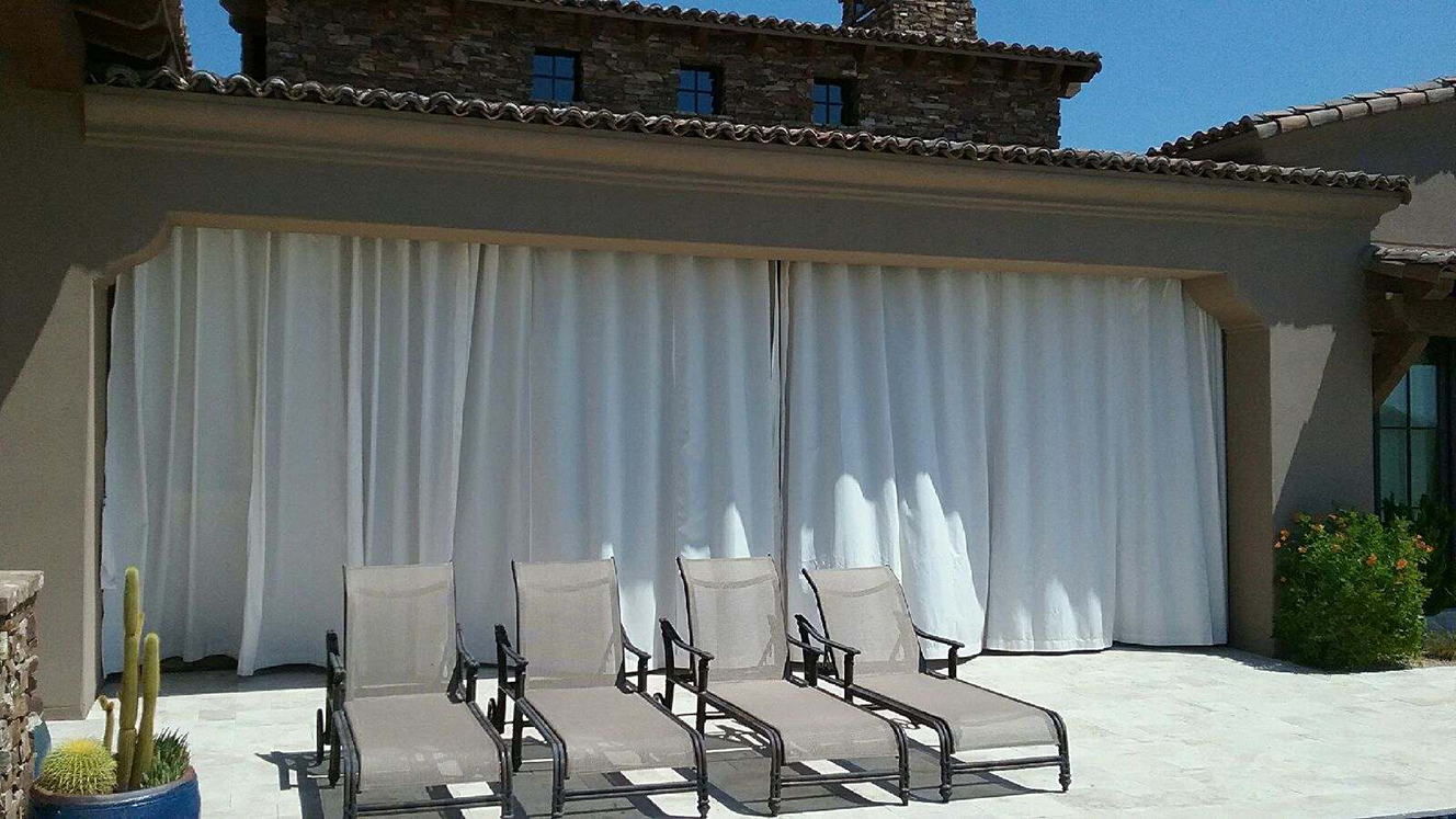 Outdoor Drapes Service   From Outside Closed