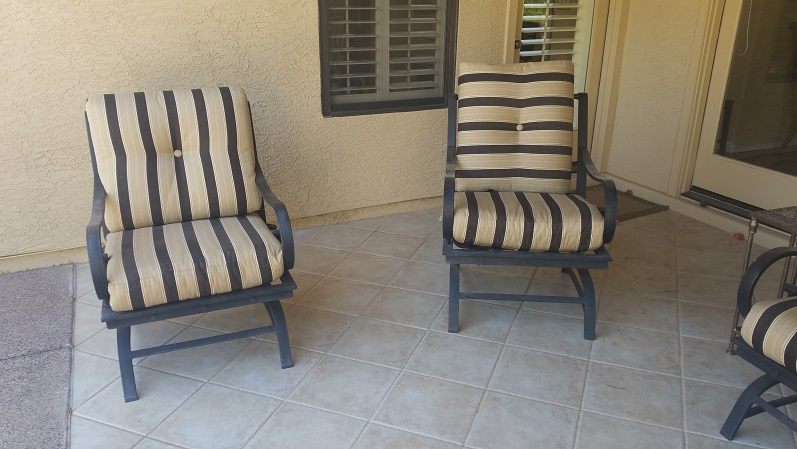 Cushion Replacement Service | Club Chairs - BEFORE