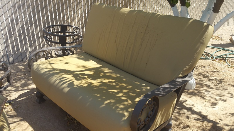 Cushion Replacement Service | Loveseat - BEFORE