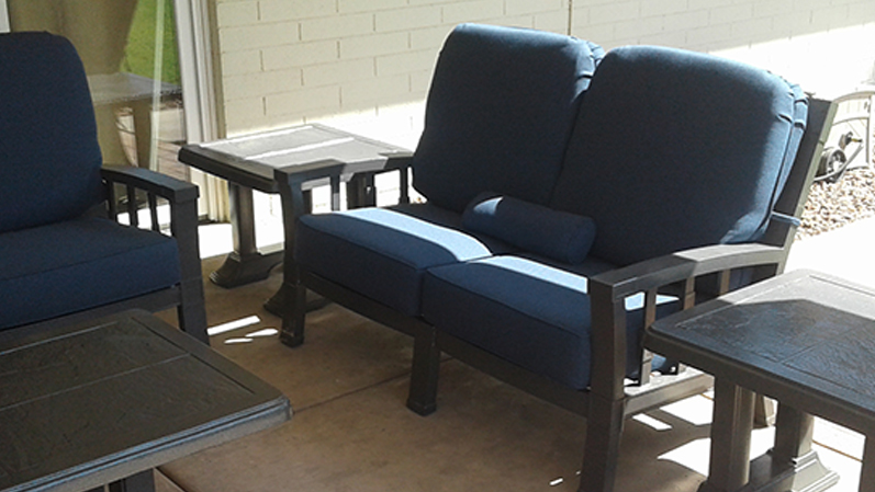 Cushion Replacement Service | Loveseat - AFTER