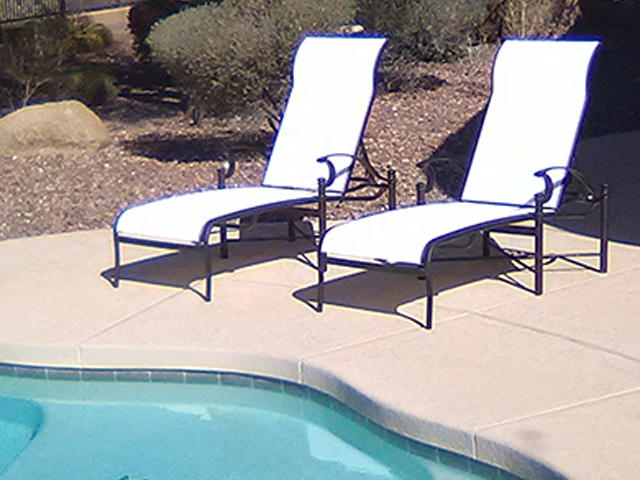 Sling Replacement Service | Sling Chaise Lounges - AFTER