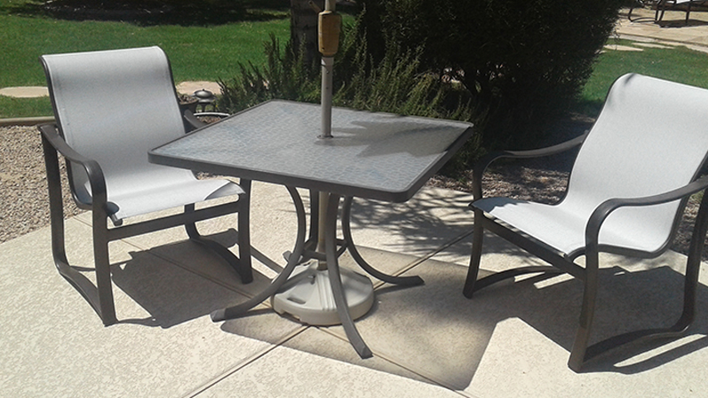 Sling Replacement Service | Sling Dining Set - AFTER