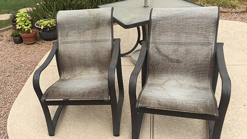 Sling Replacement Service | Sling Dining Set - BEFORE