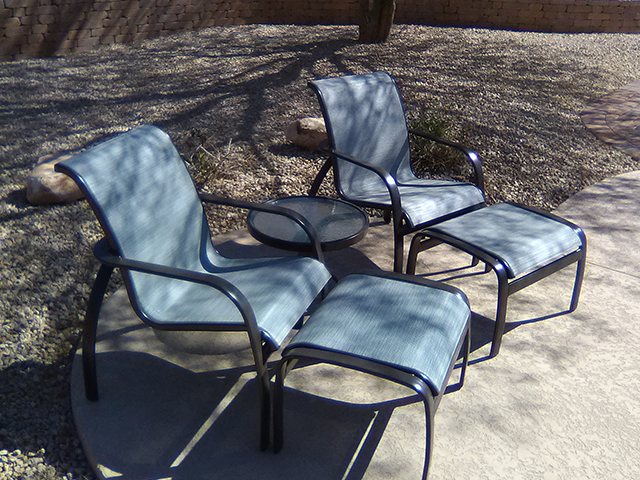 Metal Frame Restoration Service | Sitting Set - AFTER