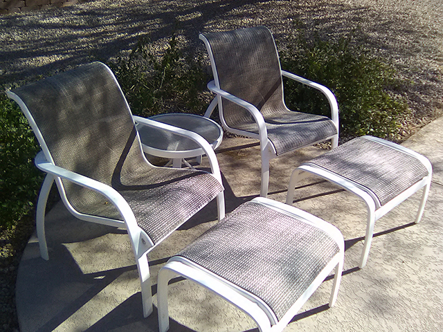 Metal Frame Restoration Service | Sitting Set - BEFORE