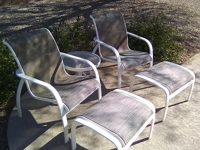 Metal Frame Restoration Service | Sitting Set - BEFORE