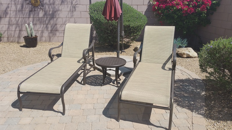 Spruce-Up Service | Sling Chaise Lounges