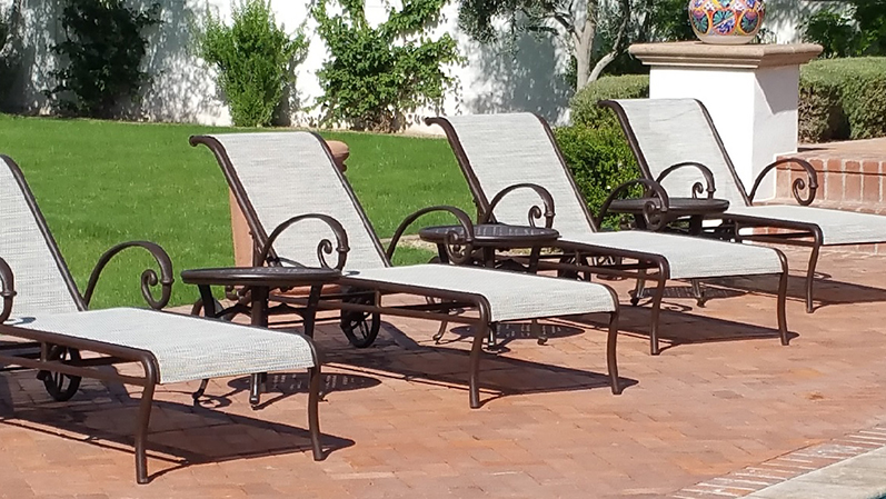 Spruce-Up Service   Sling Chaise Lounges