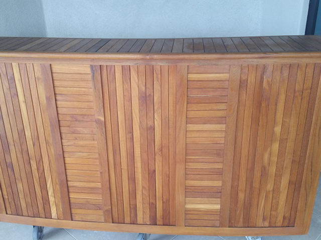 Teak Restoration Service | Bar - AFTER