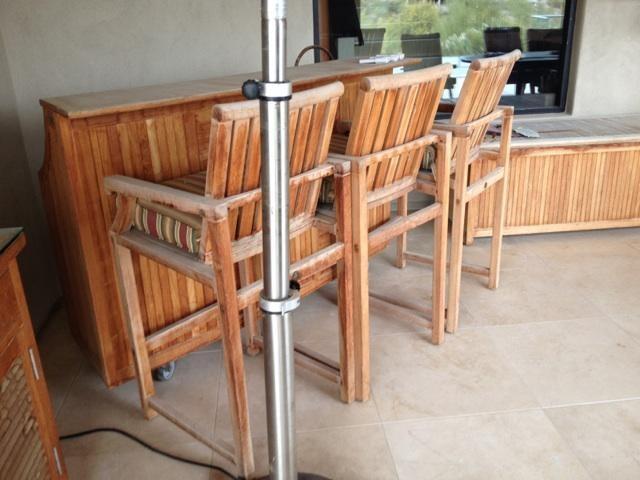 Teak Restoration Service   Bar - BEFORE