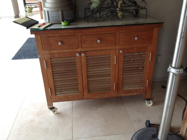Teak Restoration Service | Cabinet - BEFORE