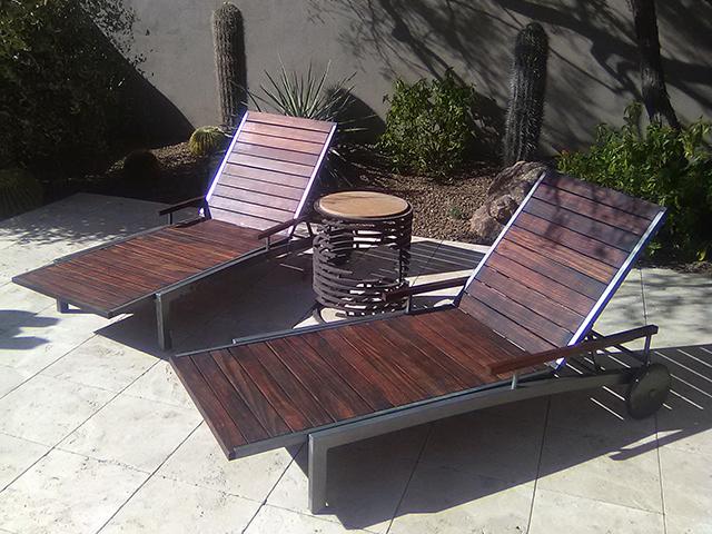 Teak Restoration Service   Chaise Lounges - AFTER