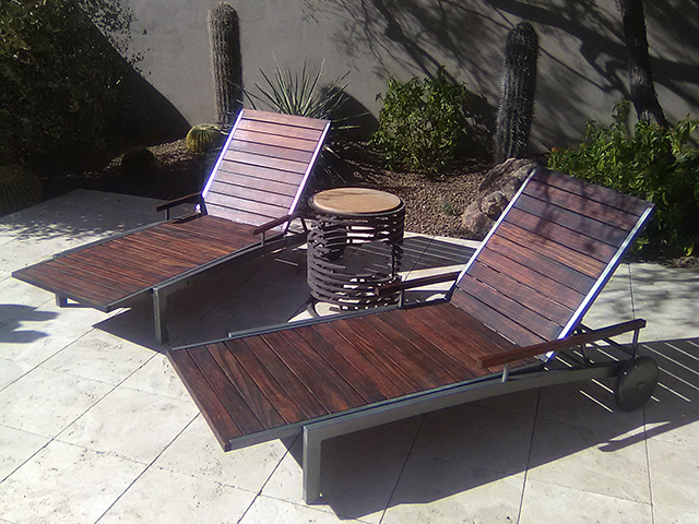 Teak Restoration Service | Chaise Lounges - AFTER