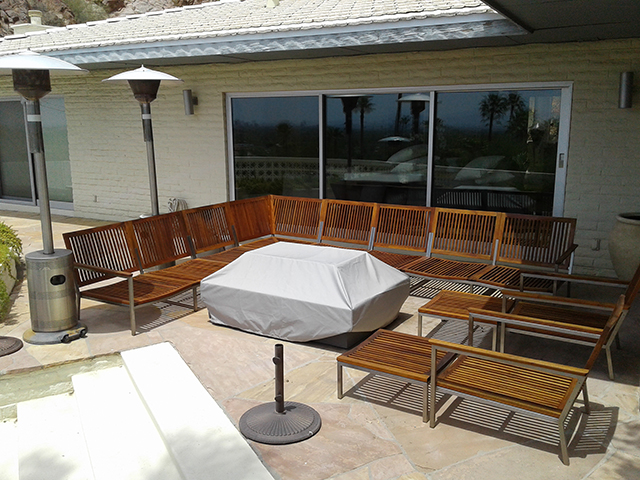 Teak Restoration Service | Sectional - AFTER