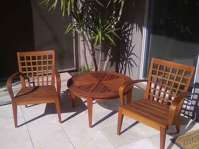 Teak Restoration Service | Sitting Set - AFTER