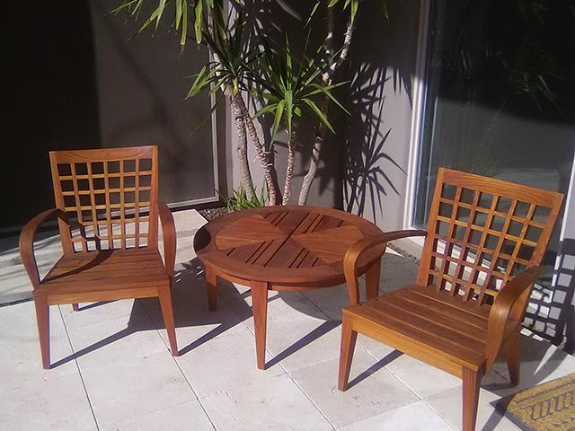Teak Restoration Service   Sitting Set - AFTER