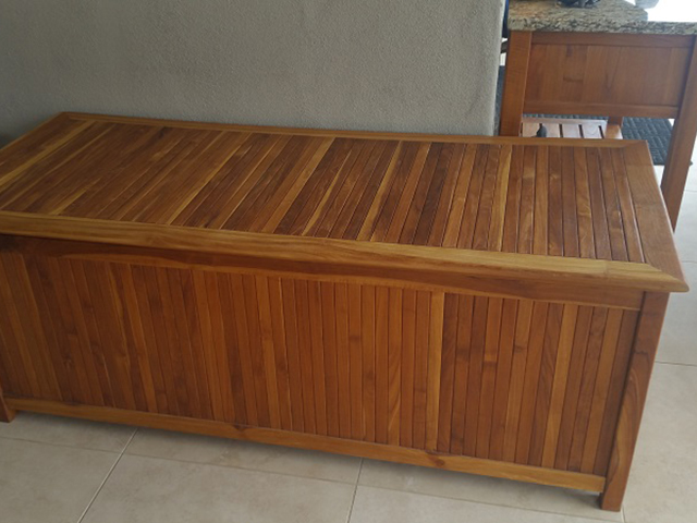 Teak Restoration Service | Storage Chest - AFTER