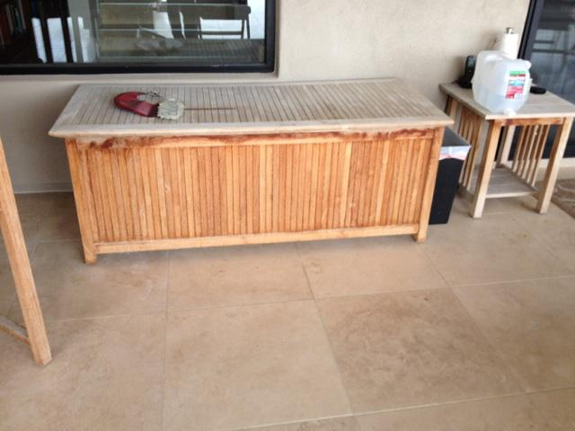 Teak Restoration Service | Storage Chest - BEFORE